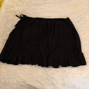NWT J. Crew Black Faux Wrap Skirt